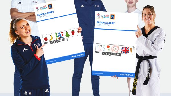 Aldi launches children's lorry competition with Team GB