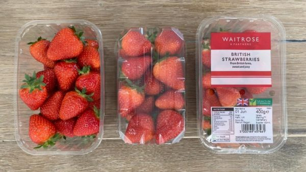 Waitrose trials sustainable packaging for strawberries