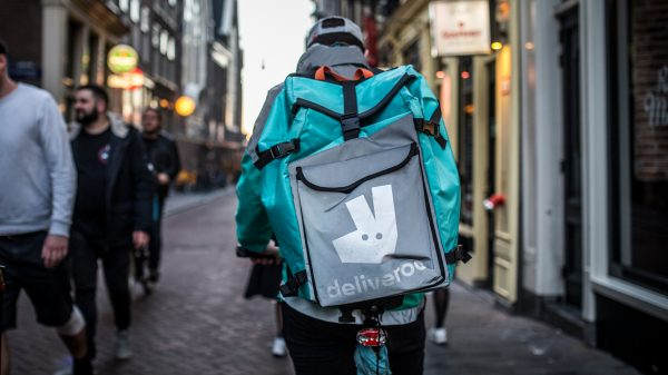 Deliveroo revealed sales continued to grow in the last three months despite the end of Covid-19 restrictions meaning diners could eat at restaurants again.