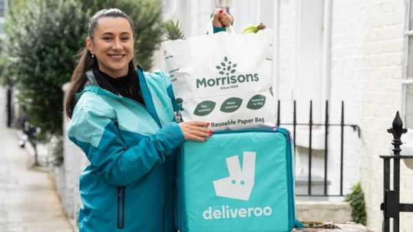 Morrisons and Deliveroo team up for rapid grocery service