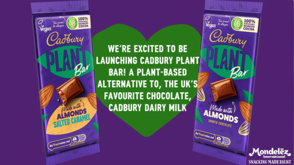 Mondelez unveils new vegan Cadbury Plant Bar