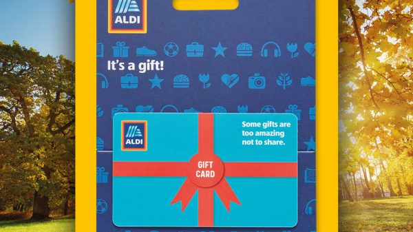Aldi has launched gift cards in all its UK in over 920 stores.
