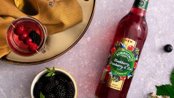 Robinsons has unveiled its newblackberry,cranberryandsloefruitcordialas part of itsholiday seasonrange.