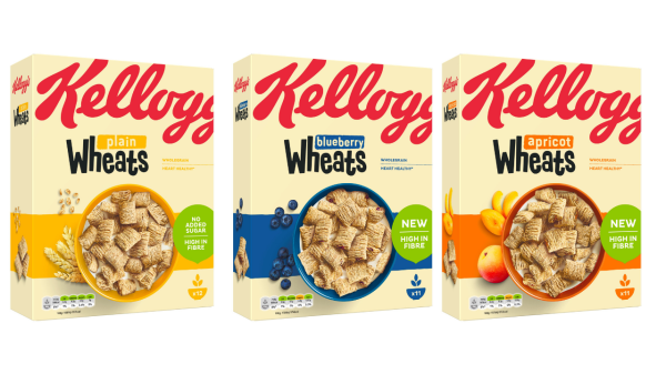 Kellogg's has expanded its high fibre wheats cereal range with the launch of three brand-new variants, including apricot, plain and blueberry.