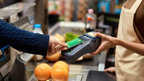 The spending limit on each contactless card has increased to £100, from £45.